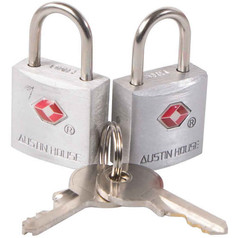 Austin House TSA Mini Aluminum Alloy Lock (2-pack)