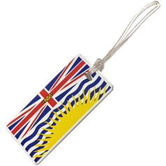 Austin House Plastic Luggage Tag, British Columbia