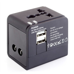 Smooth Trip Intl Adapter Cube w/ Dual USB Chargers