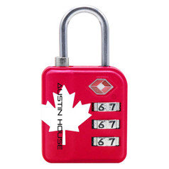 Austin House TSA 3-Dial Indicator Combination Lock