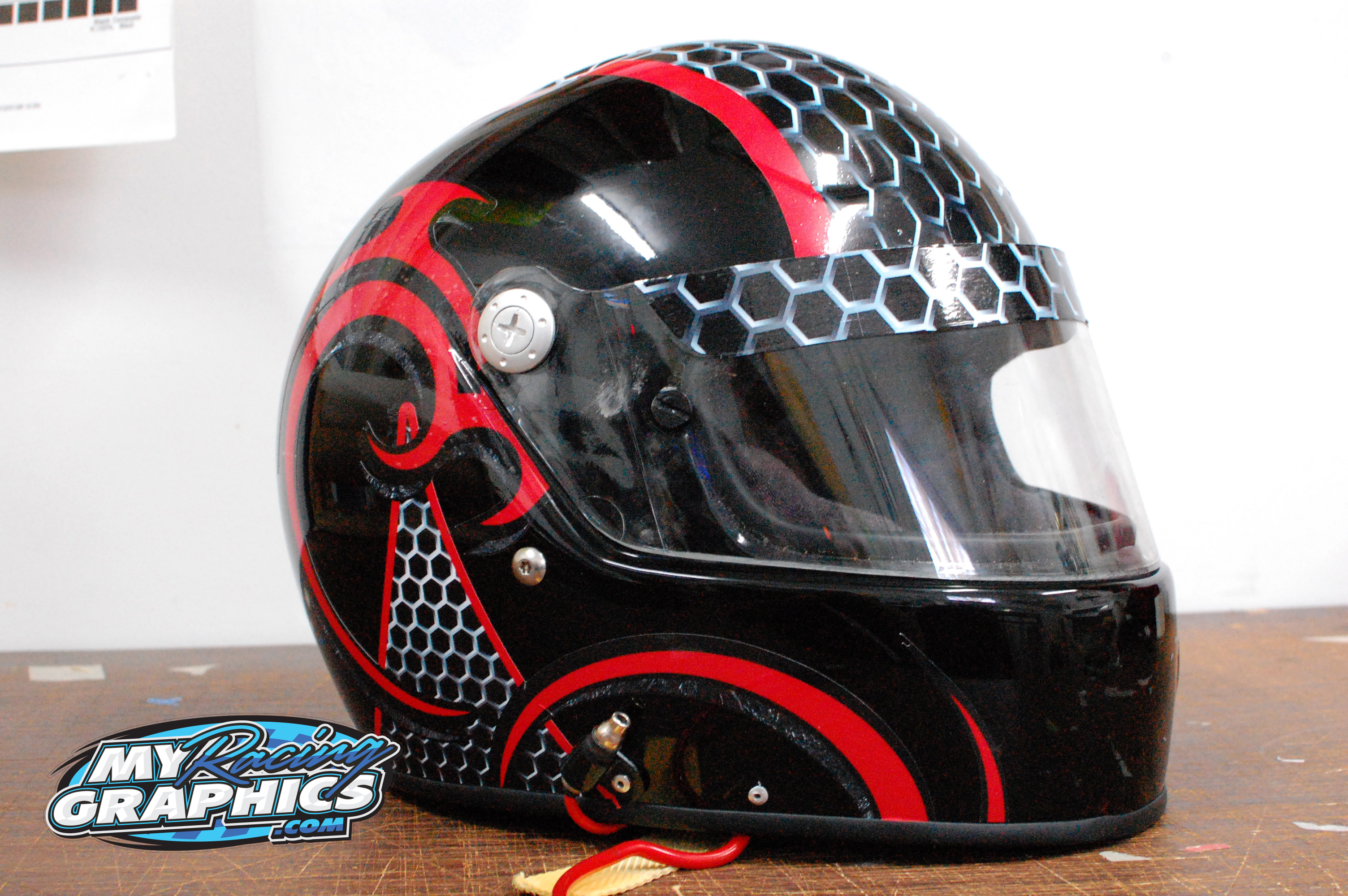Helmet wrap graphics