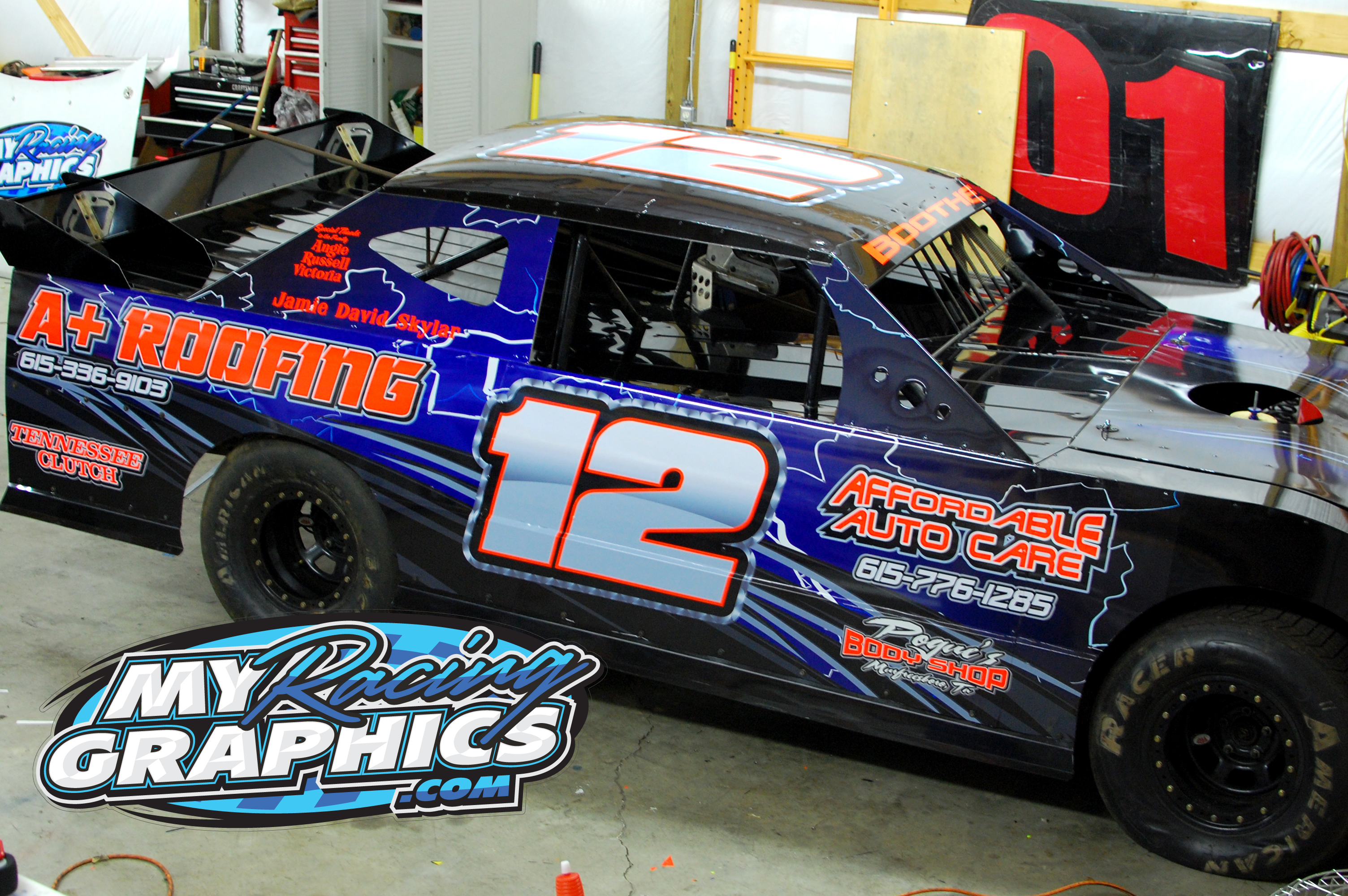 My Racing Graphics s Lettering race cars