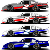 Late Model Half Wrap 2 Racing Graphics
