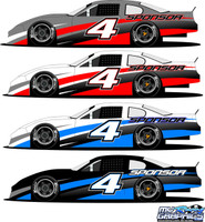 Race Car Side Wrap 4 Late Model, Super Stock, Street Stock, Mini Stock