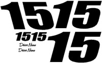 Racing Number Kit 2 Digit One Color Vinyl Decal Kit