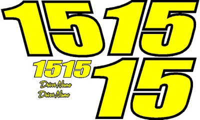 Number Kit For Race Car 2 Color 2 Digit Vinyl Decal Kit With