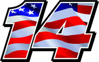 Full color Race Car Numbers USA Flag