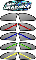 Window Graphic Decal for use on Race cars with a solid sail panel