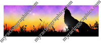 Wolf at sunset rear window graphic