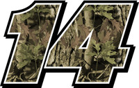 Camo full color race car decals number kit