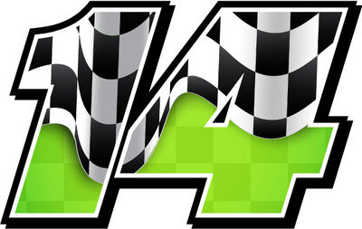 Full Color Numbers Vinyl Checkered Decal Kit With Drivers Name
