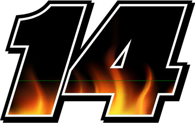 Full Color Numbers Vinyl Flames Decal Kit With Drivers Name Race