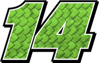 Monster Scales racecar number decal kit