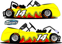 Wave Graphic Side Wrap for Go Karts