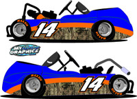 Camo Racing Go Kart Side Graphic