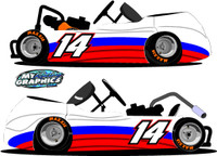 Graphic 5 Side Wrap for Go Karts