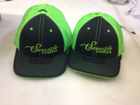 Embroidered fitted mesh back caps