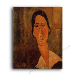 Modigliani | Jeanne Hebuterne with White Collar