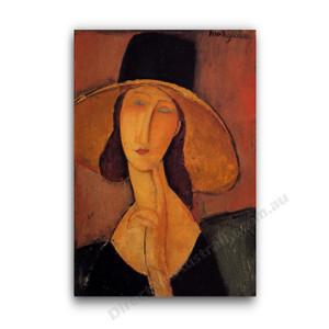 Modigliani | Jeanne Hebuterne in a Large Hat