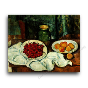 Paul Cezanne | Still life with Plate of Cherries