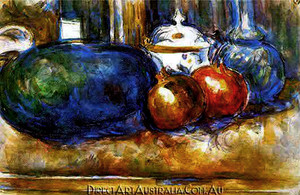 Paul Cezanne | Still Life with Watermelon and Pomegranates