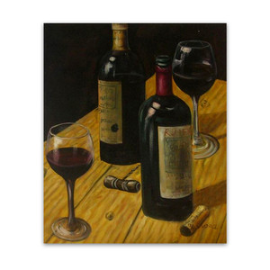 Wine on Table | Restaurant Art Prints Try an Oil Painting Alternative