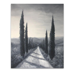 Coniferous Trees | Black & White Artwork for Areas with Limited Space