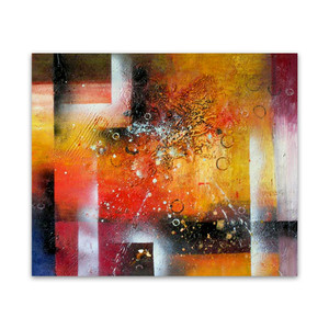 Enigma | Yellow Abstract Art Oil Painting Art Canvas for Hallways
