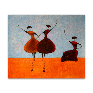 Three Ballerinas One | Abstract Paintings & Art Work for Feminine Touch