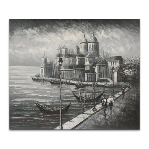 Melancholy One | Vintage Hand Paintings & Canvas Art Online for Boutiques