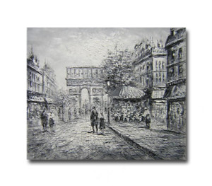 Dawn Two   Streetscape Art on Canvas Wall Hangings Online for Office