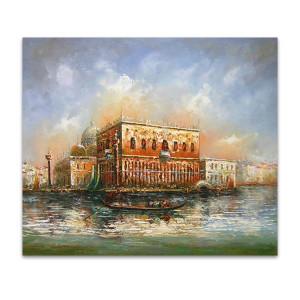 Flow   Sky Blue Oil Painting on Canvas & Canvas Art for Sale