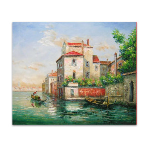Aqua   Mediterranean Canvas Art & Oil Paintings for Styling Living Room