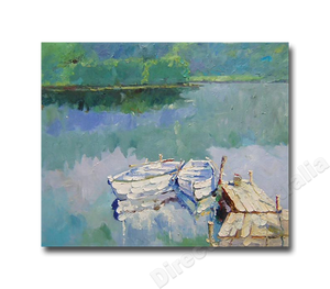 Crystal Lake | Cheap Canvas Wall Art & Paintings Online for Study Room
