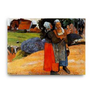 Paul Gaugin | Two Breton Women on the Road