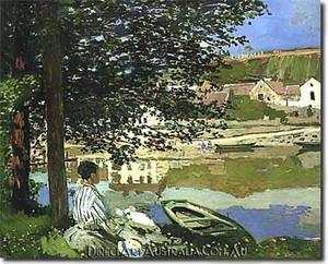 Monet | River Scene at Bennecourt