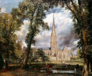 John Constable   Salisbury Cathedral from Bishop's Grounds
