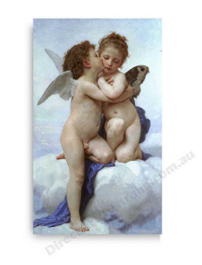 Wiiliam Bouguereau | Cupid and Psyche as Children