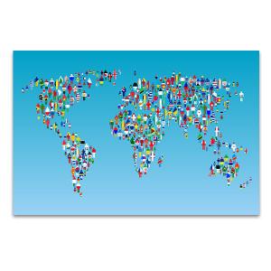 Human Globalization Wall Art Print