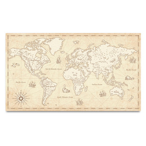 Vector Detailed Map Art Print