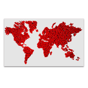 World in Red Wall Art Print