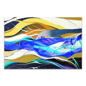Colorful Streaks Art Print