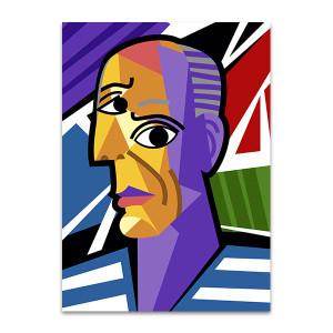 Cartoon Picasso Art Print