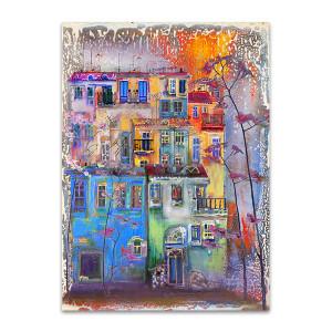 City after Rain Art Print
