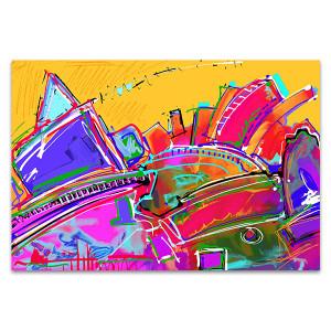 Dirty Colors Wall Art Print
