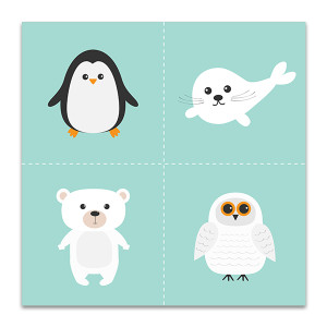 Artic Polar Animal Art Print