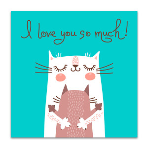 Lovely Cats Art Print