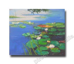 Blue Pond   Kitchen Art Ideas   Art for Kitchen and Home