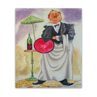Waiter | Genuine Art Canvas as Ideal Art gifts for Restaurant Owners