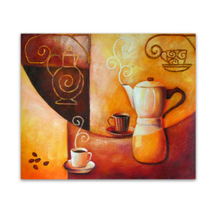 Coffee | Original Oils on Canvas Still Life Wall Hanging for Café